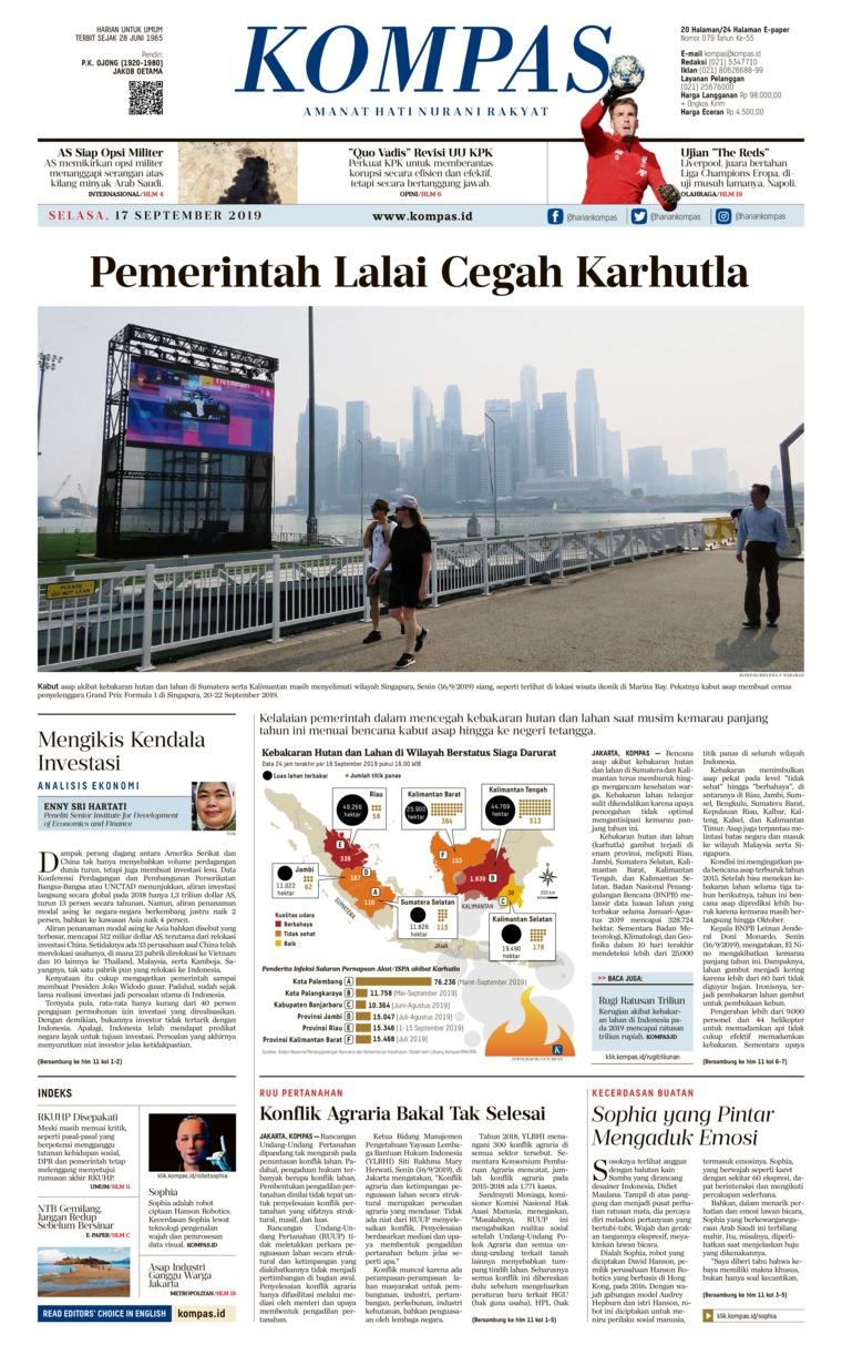 Koran Digital KOMPAS 17 September 2019