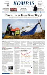 KOMPAS Cover 23 April 2018