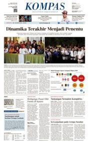 Cover KOMPAS 10 Agustus 2018