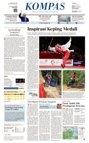 Cover KOMPAS 21 Agustus 2018