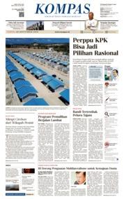 KOMPAS Cover 28 September 2019