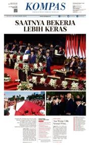 Cover KOMPAS 21 Oktober 2019