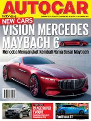 Cover Majalah AUTOCAR Indonesia September 2016