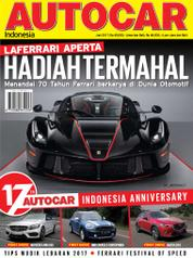 AUTOCAR Indonesia Magazine Cover June 2017