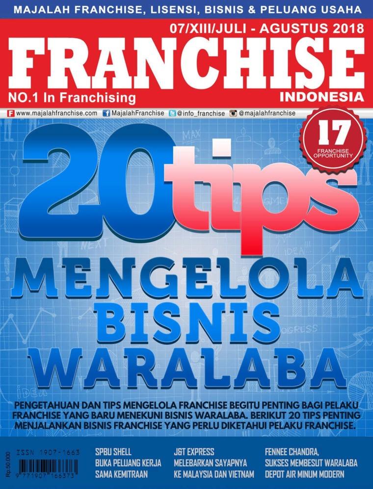 Majalah Digital INFO FRANCHISE Indonesia Juli-Agustus 2018