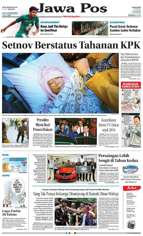 Koran Digital Jawa Pos 18 November 2017