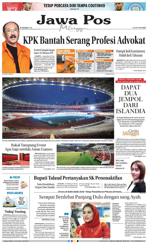 Koran Digital Jawa Pos 14 Januari 2018