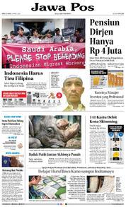 Cover Jawa Pos 21 Maret 2018