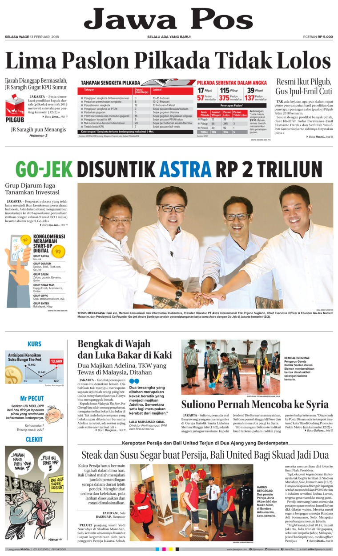 Koran Digital Jawa Pos 13 Februari 2018
