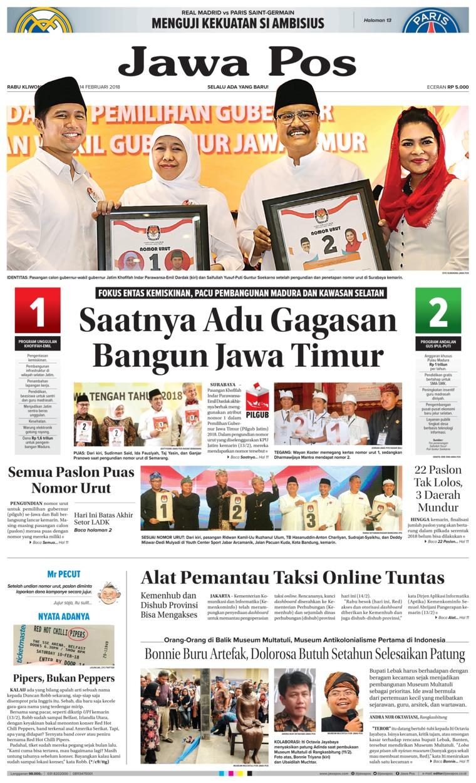 Koran Digital Jawa Pos 14 Februari 2018