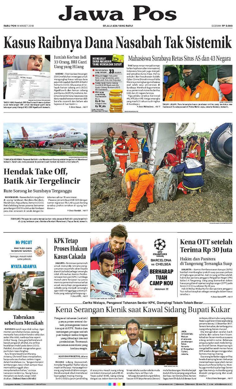 Koran Digital Jawa Pos 14 Maret 2018