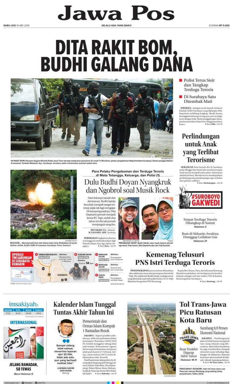 Koran Digital Jawa Pos 16 Mei 2018