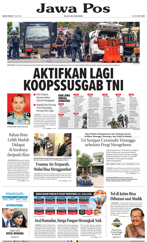 Koran Digital Jawa Pos 17 Mei 2018