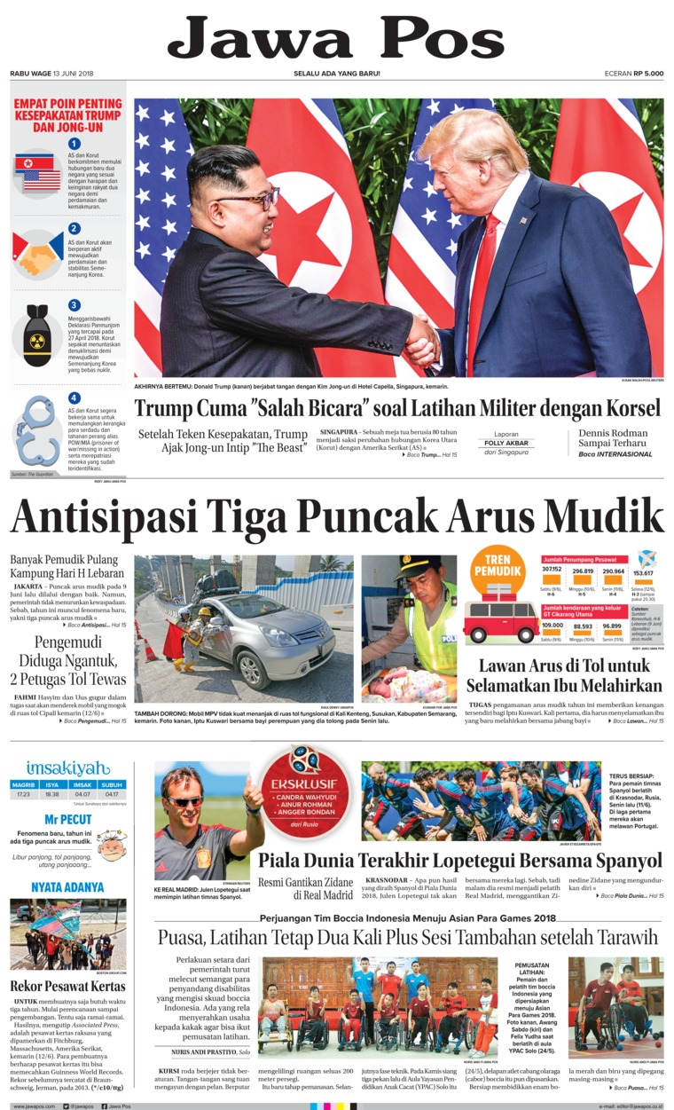 Jawa Pos Digital Newspaper 13 June 2018