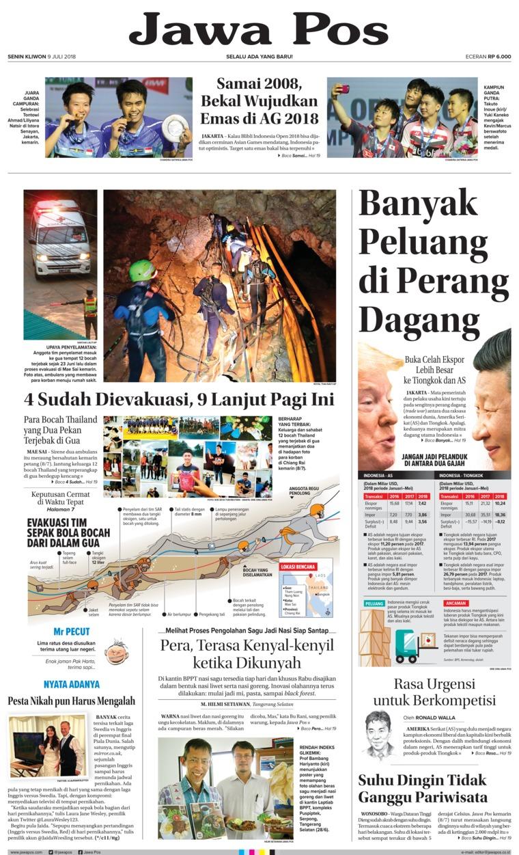 Koran Digital Jawa Pos 09 Juli 2018