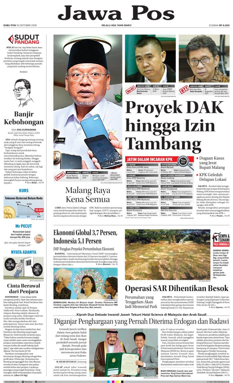 Koran Digital Jawa Pos 10 Oktober 2018