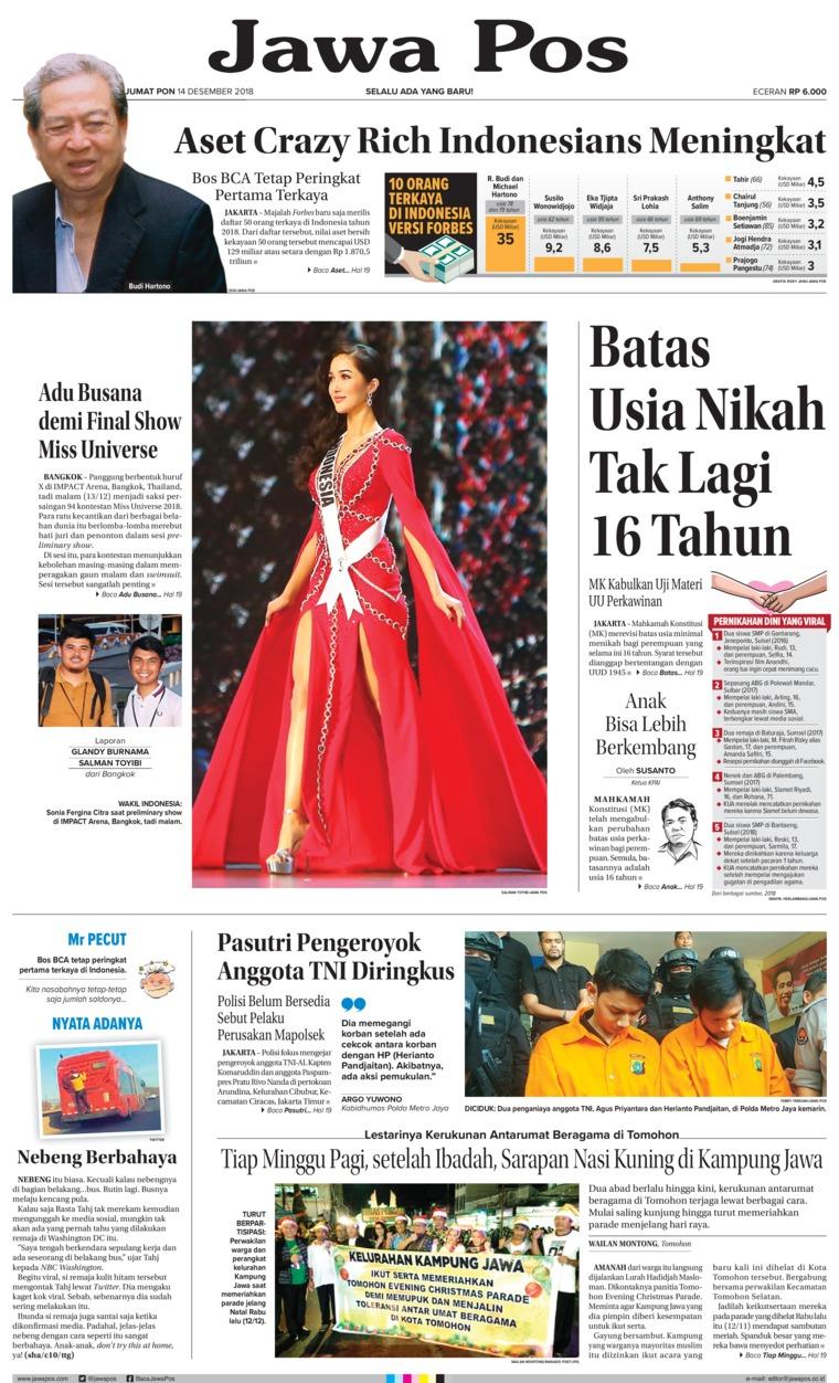 Koran Digital Jawa Pos 14 Desember 2018