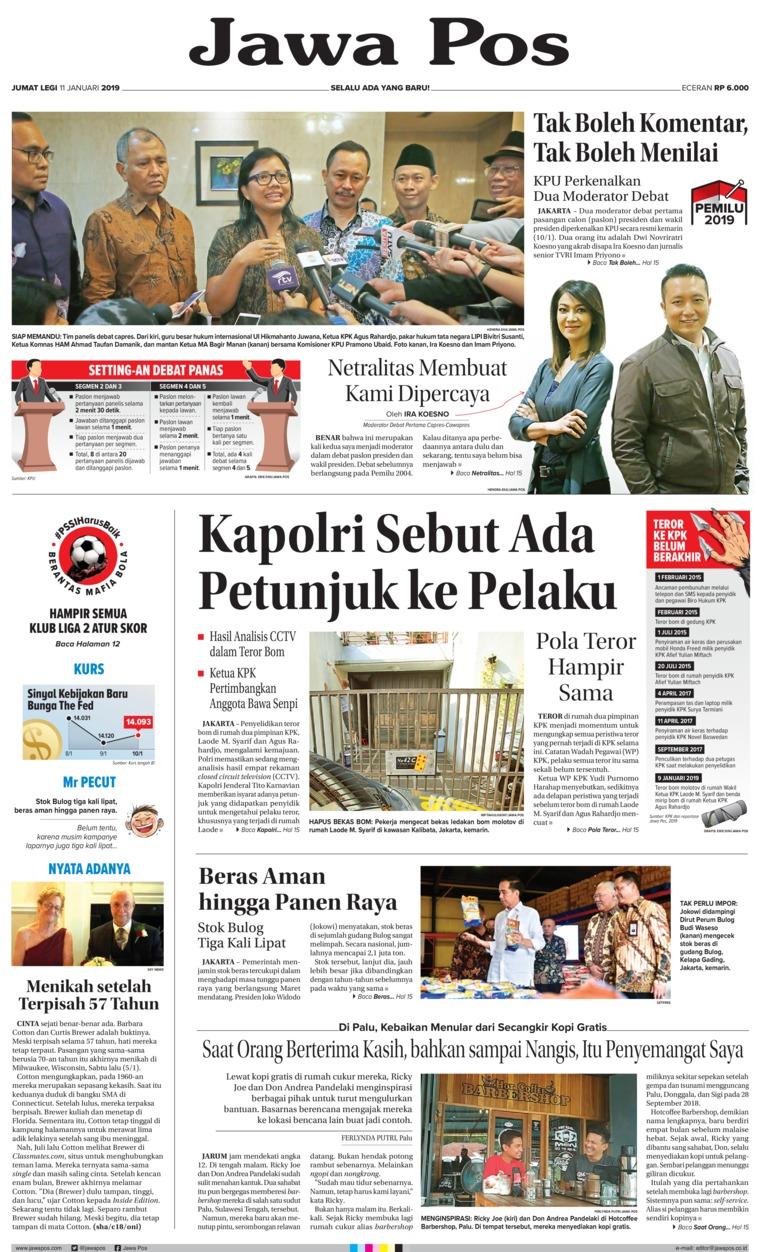 Jawa Pos Digital Newspaper 11 January 2019