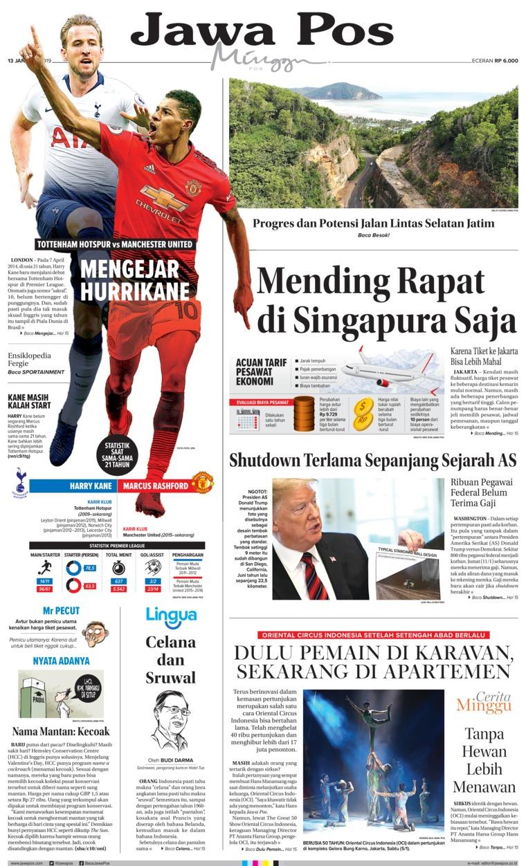 Koran Digital Jawa Pos 13 Januari 2019