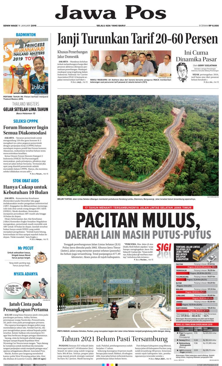 Koran Digital Jawa Pos 14 Januari 2019