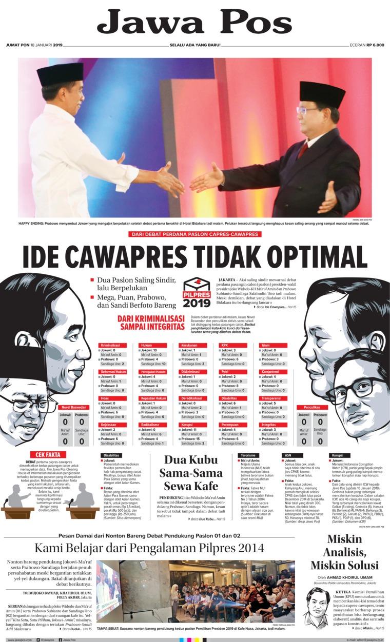 Koran Digital Jawa Pos 18 Januari 2019