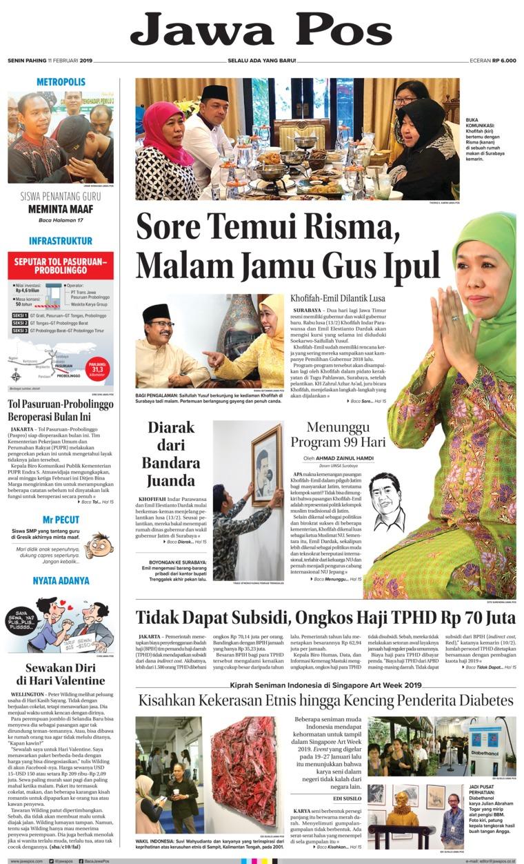 Koran Digital Jawa Pos 11 Februari 2019