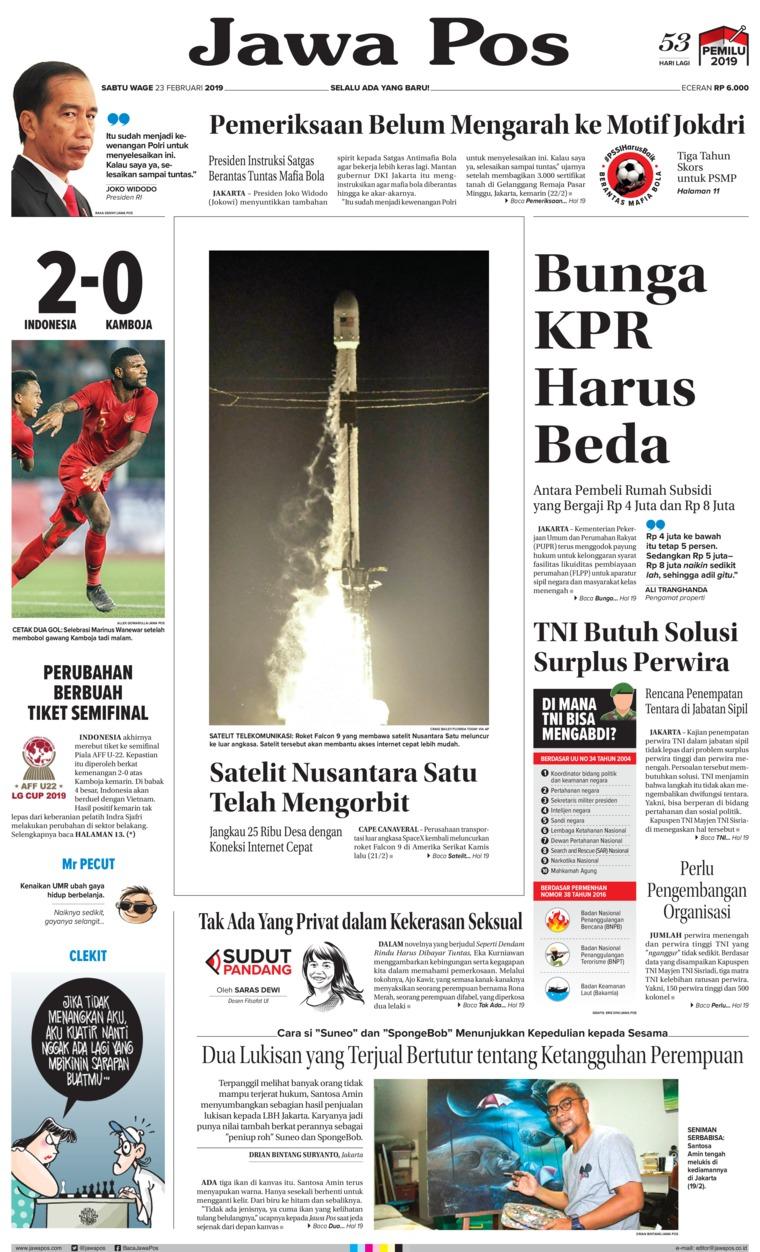 Koran Digital Jawa Pos 23 Februari 2019