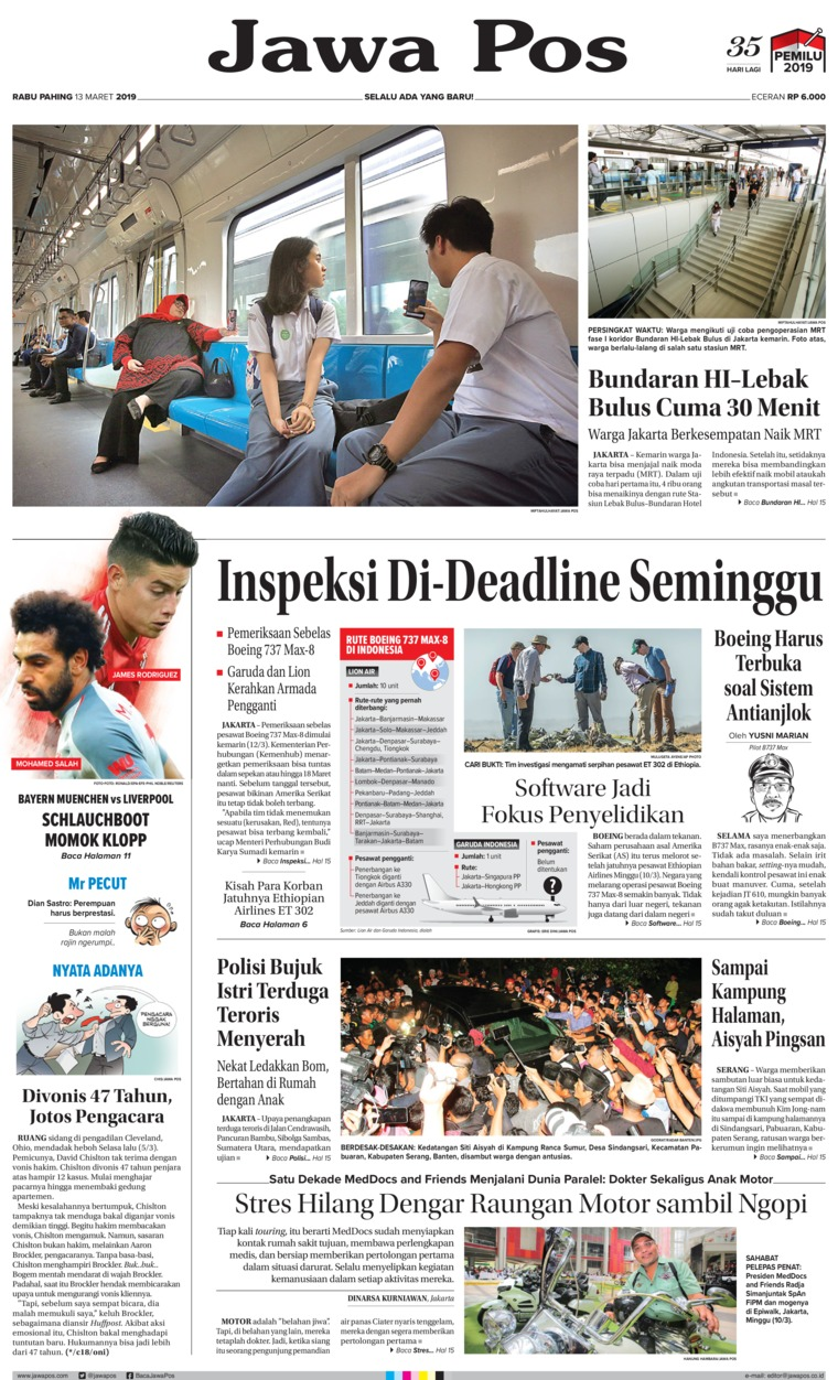 Koran Digital Jawa Pos 13 Maret 2019
