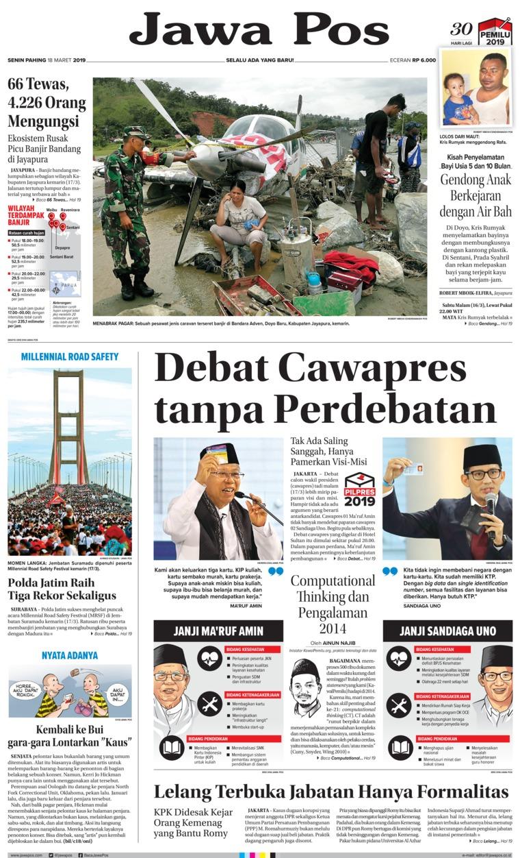 Koran Digital Jawa Pos 18 Maret 2019
