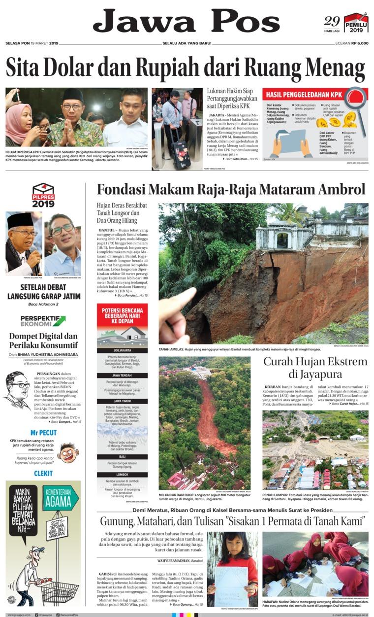 Koran Digital Jawa Pos 19 Maret 2019