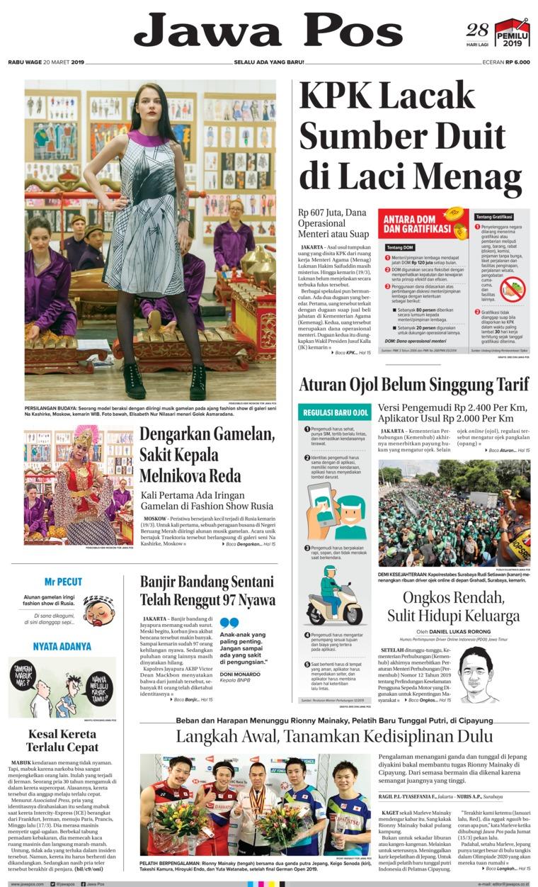 Koran Digital Jawa Pos 20 Maret 2019