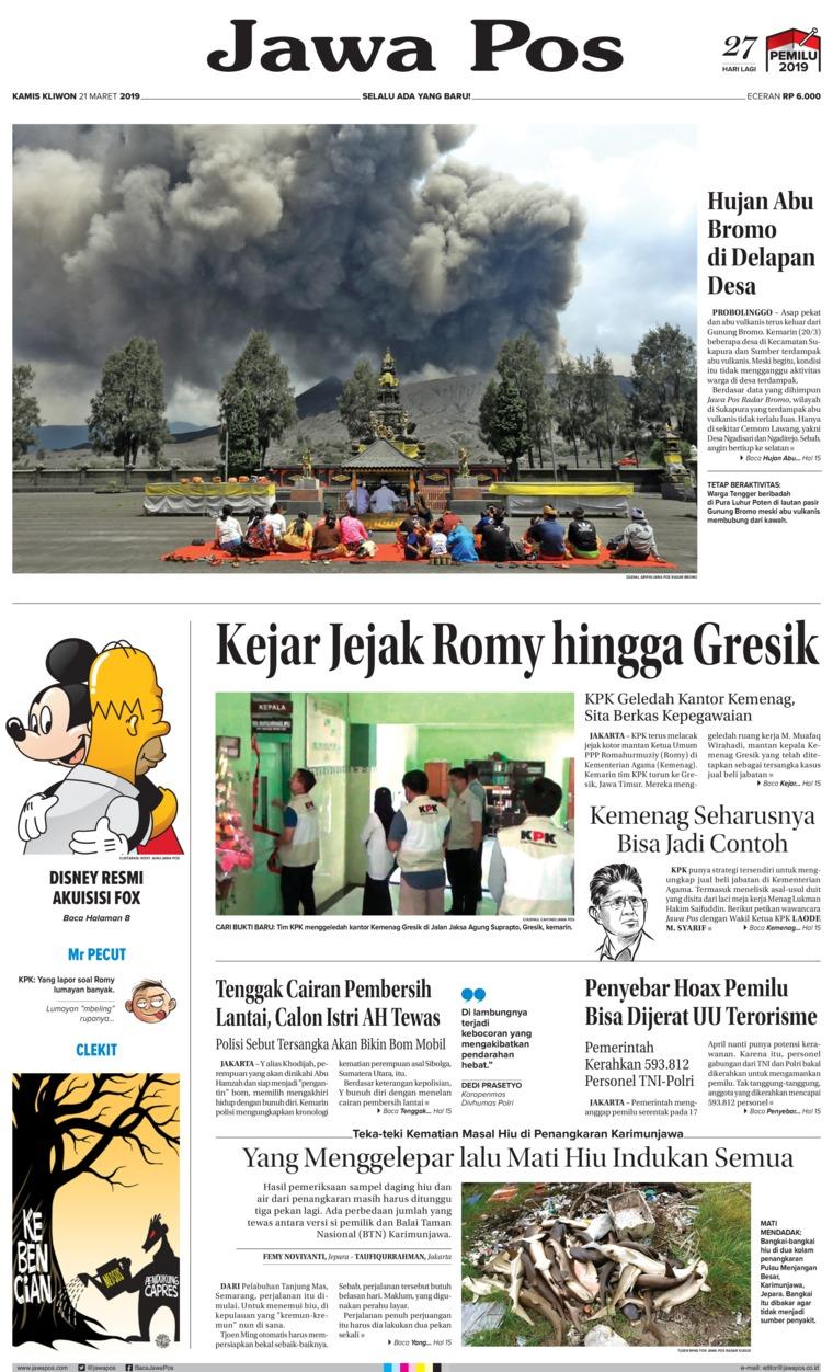 Koran Digital Jawa Pos 21 Maret 2019