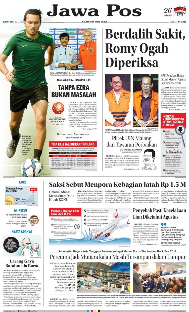 Koran Digital Jawa Pos 22 Maret 2019