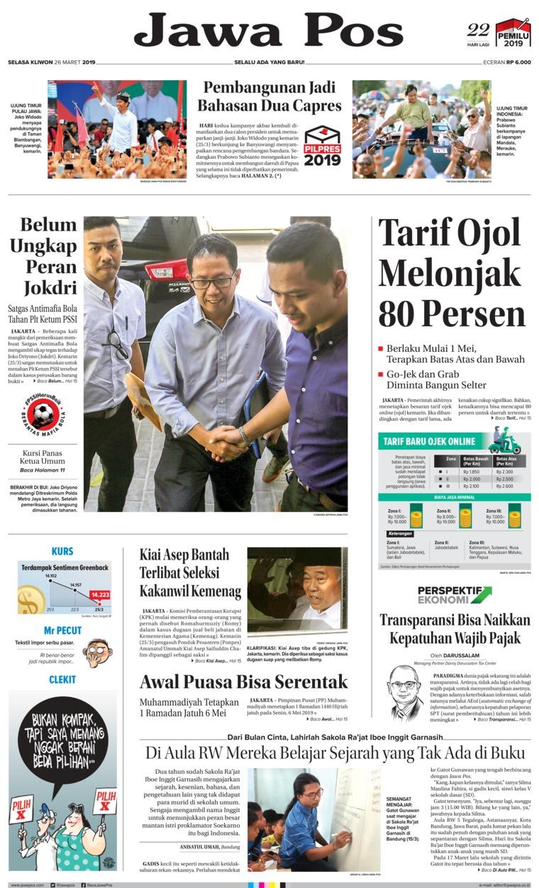 Jawa Pos Digital Newspaper 26 March 2019