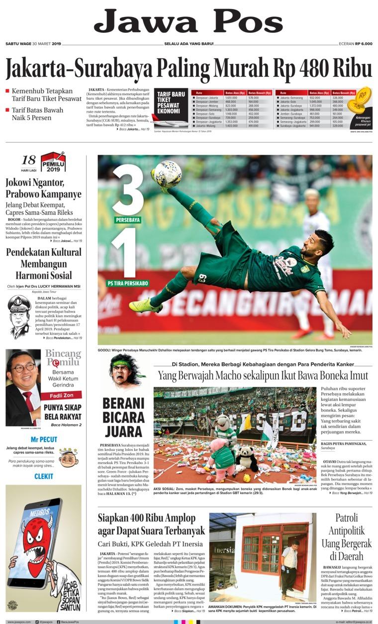 Jawa Pos Digital Newspaper 30 March 2019