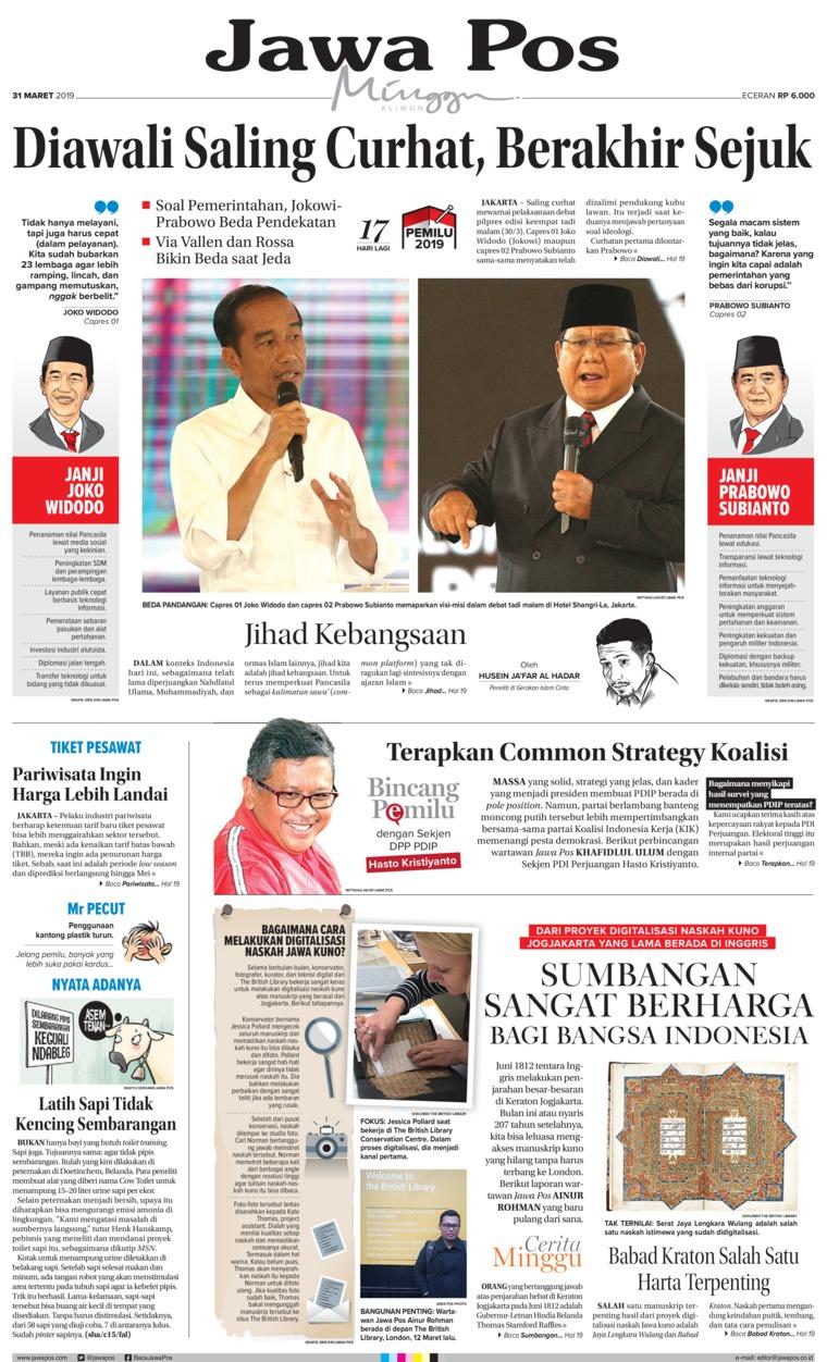 Koran Digital Jawa Pos 31 Maret 2019