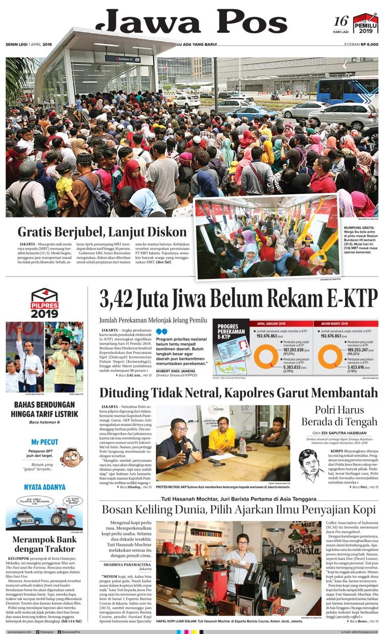 Koran Digital Jawa Pos 01 April 2019