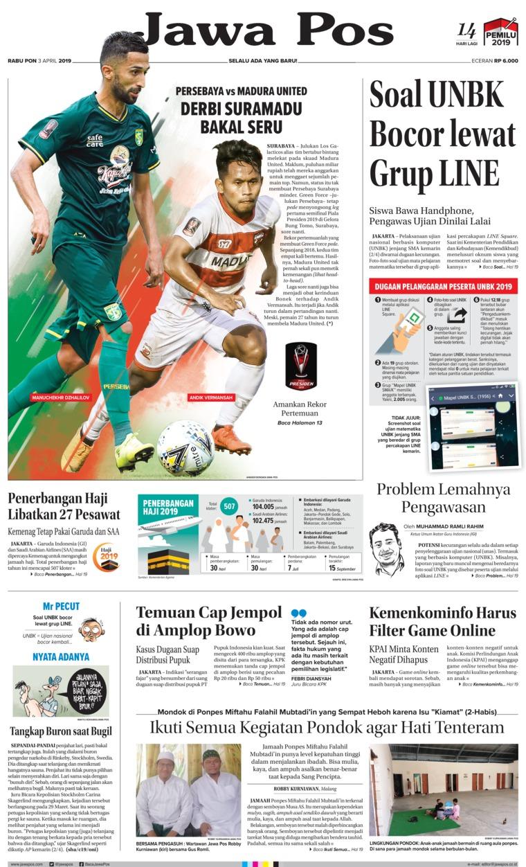 Koran Digital Jawa Pos 03 April 2019