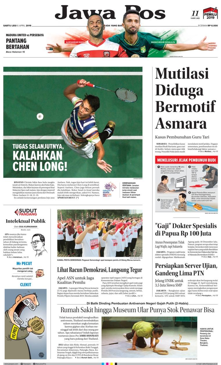 Koran Digital Jawa Pos 06 April 2019