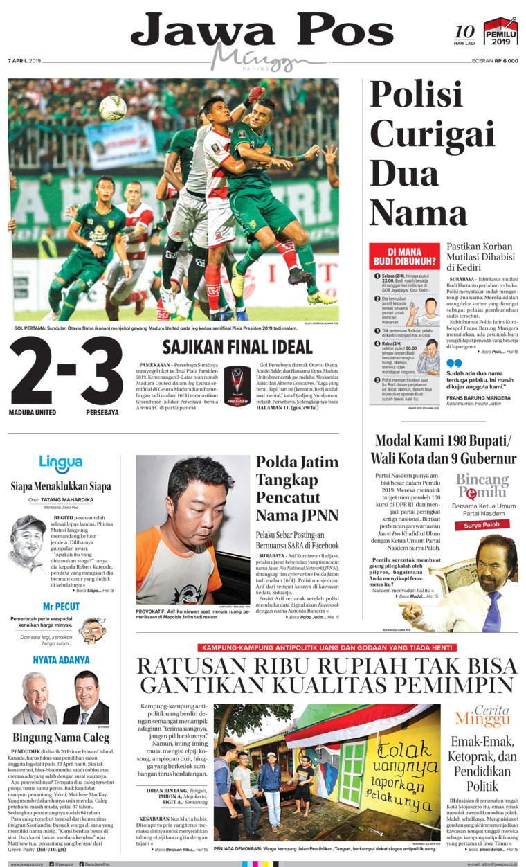 Jawa Pos Digital Newspaper 07 April 2019