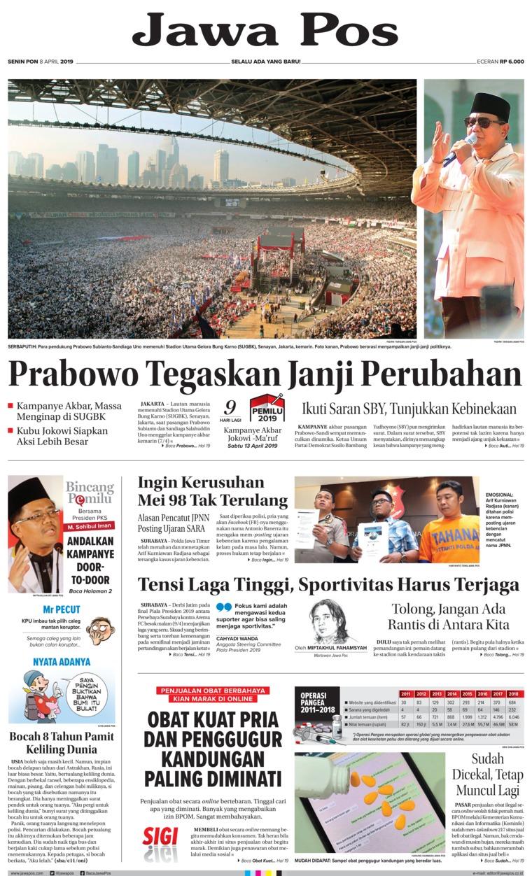 Koran Digital Jawa Pos 08 April 2019