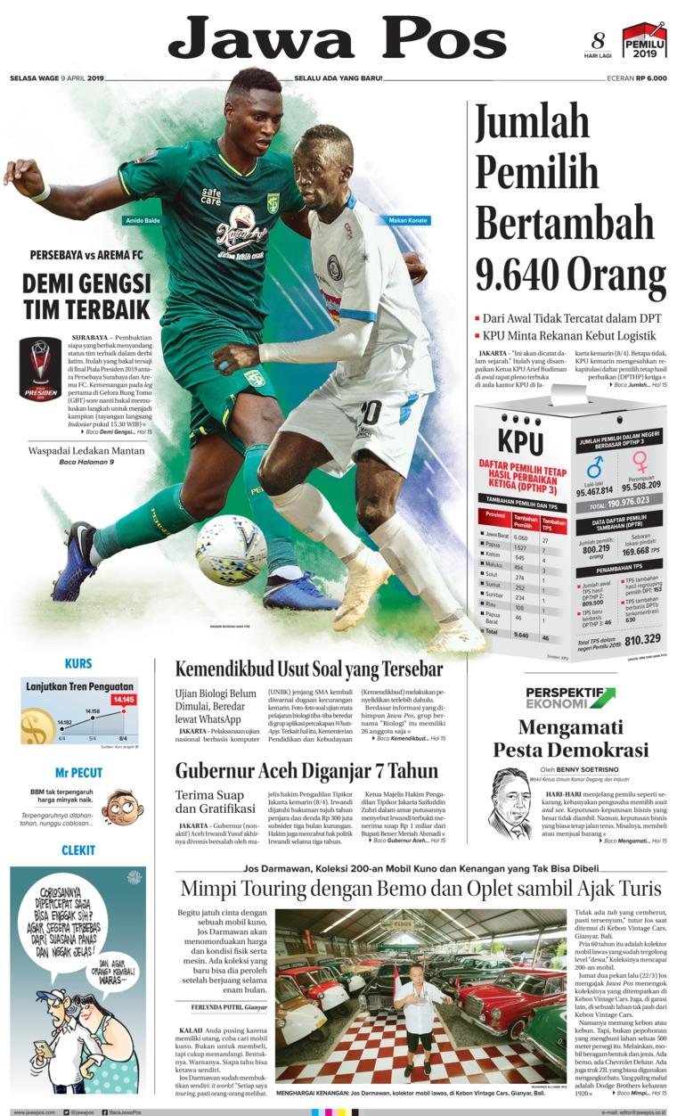Koran Digital Jawa Pos 09 April 2019