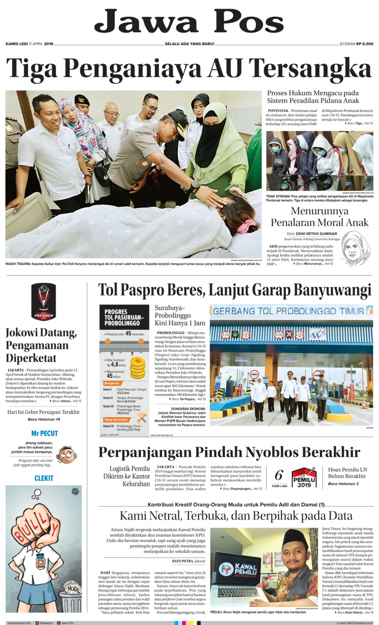 Koran Digital Jawa Pos 11 April 2019