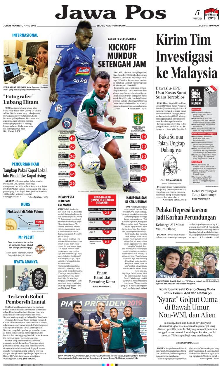 Koran Digital Jawa Pos 12 April 2019