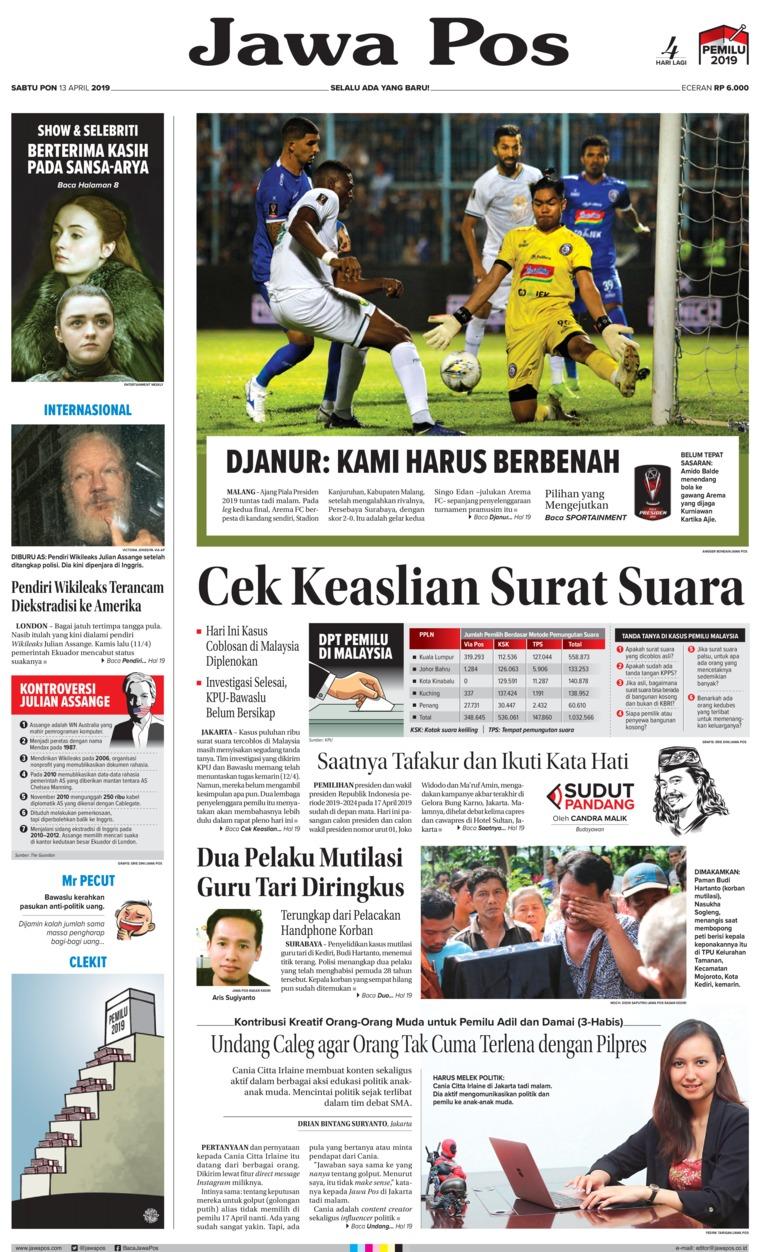 Koran Digital Jawa Pos 13 April 2019