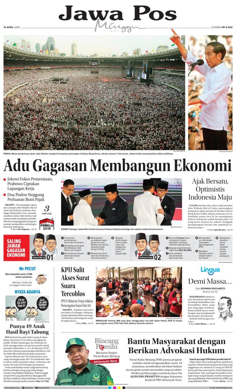 Koran Digital Jawa Pos 14 April 2019