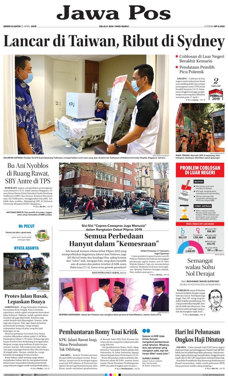 Koran Digital Jawa Pos 15 April 2019