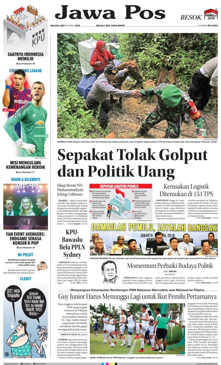 Koran Digital Jawa Pos 16 April 2019