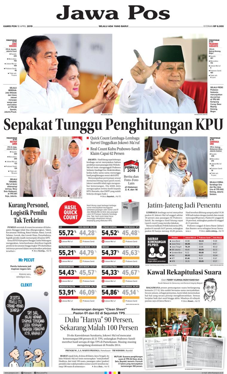Koran Digital Jawa Pos 18 April 2019