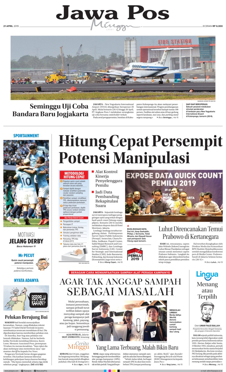 Koran Digital Jawa Pos 21 April 2019